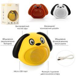Колонка собачка (аккум., Bluetooth, возможно зьедн.двох колон.в пару, USB) MB-M818