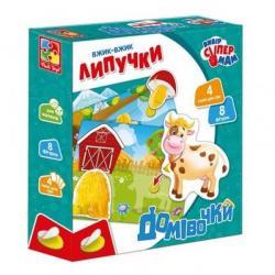 Игра настольная Vladi Toys Домики с липучками на украинском языке, VT1302-24