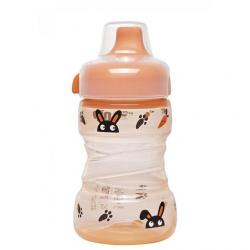 Бутылка поилка с широкой горловиной, твердый носик 260мл 35100