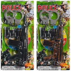 Набор полицейского (автомат-трещотка, бинокль, наручники) 88001-02