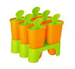 Формы для мороженого с подставкой, светло-оранжевый - оливковый