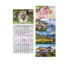 Календарь настенный 2022 квартальный BUROMAX ВМ.2106