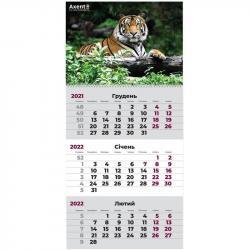 Календарь настенный квартальный 2022 Тигр Axent 8801-02-A
