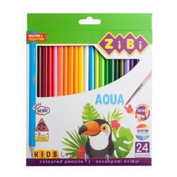 Карандаши цветные 24 цвета акварельные  Kids Line  ZIBI ZB.2476