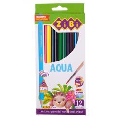 Карандаши цветные 12 цветов акварельные  Kids Line  ZIBI ZB.2475