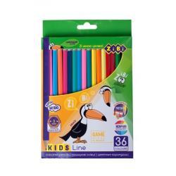 Карандаши цветные 36 цветов  Kids Line  ZIBI ZB.2417