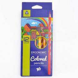 Карандаши цветные 12 цветов  Ergonomic  YES 290509