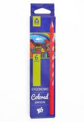Карандаши цветные 6 цветов  Ergonomic  YES 290507