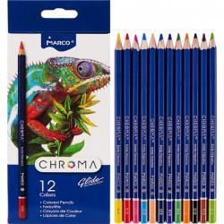 Карандаши цветные MARCO Chroma 12 цветов 8010 / 12CB