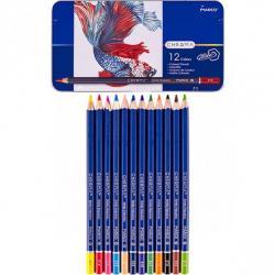 Карандаши цветные MARCO Chroma 12 цветов в металлическом пенале 8010 / 12TN