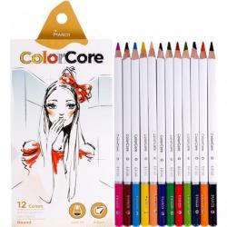 Карандаши цветные MARCO ColorCore 12 цветов с белым корпусом 3130 / 12СВ-В