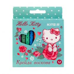 Карандаши восковые 12 цветов  Hello Kitty  Kite 40272