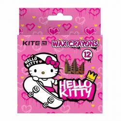 Карандаши восковые 12 цветов  Hello Kitty  Kite HK21-070