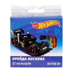Карандаши восковые 12 цветов   Hot Wheels  Kite 40273