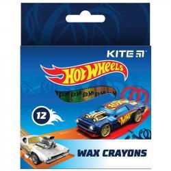 Карандаши восковые 12 цветов  Hot Wheels  Kite HW21-070
