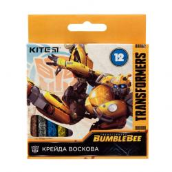 Карандаши восковые 12 цветов  Transformers  Kite 40274