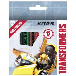 Карандаши восковые 12 цветов  Transformers  Kite TF21-070