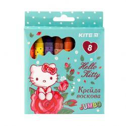 Карандаши восковые 8 цветов Jumbo  Hello Kity  Kite 40266