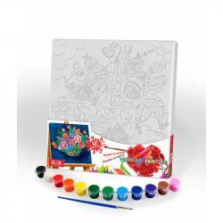 Картина по номерам Danko Toys Canvas Painting Букет 31 х 31 см, ДТ-ОО-09265