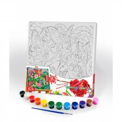 Картина по номерам Danko Toys Canvas Painting Феи 31 х 31 см, ДТ-ОО-09262