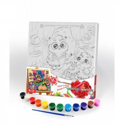 Картина по номерам Danko Toys Canvas Painting Совы 31 х 31 см, ДТ-ОО-09263