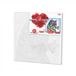 Картина по номерам Danko Toys PAINTING BY NUMBERS Кот 40 х 40 см, ДТ-ОО-09205