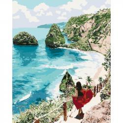 Картина по номерам Идейка Бриллиантовый пляж 40 х 50 см, КНО4734