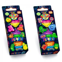 Креативное творчество BUBBLE CLAY  FLUORIС   6 цветов укр.