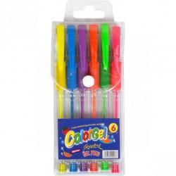Набор гелевых ручек COLOR-IT Neon 6 цветов 0,7мм РГН-06