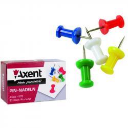 Кнопки-гвоздики цветные 30 шт. AXENT 4203-A
