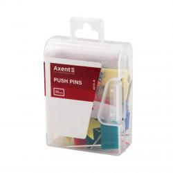 Кнопки-гвоздики  Флажки  разноцветные 30 шт. Axent 4215-А