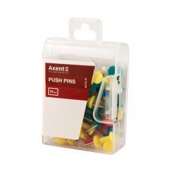 Кнопки-гвоздики разноцветные 50 шт. Axent 4213-А