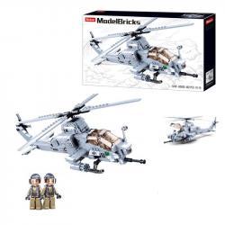 Конструктор Вертолет  Вайпер AH-1Z  482 детали SLUBAN Model Bricks M38-B0838