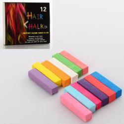 Косметика  Мелки для волос  12 цветов HC01