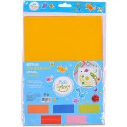 Набор бумаги А4 10 листов с клеем цветной