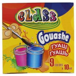 Краски гуашевые CLASS 9 цветов 10мл