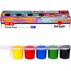 Краски акриловые Red Apple 6 цветов 25мл 012631/3836