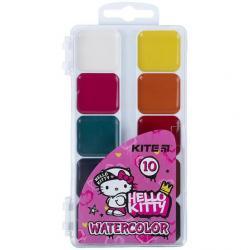 Краски акварельные 10 цветов  Hello Kitty  Kite HK21-060