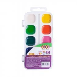 Краски акварельные 10 цветов ZiBi ZB.6543-10