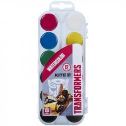 Краски акварельные 12 цветов Transformers Kite TF21-061