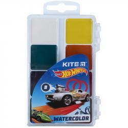 Краски акварельные 8 цветов  Hot Wheels  Kite HW21-065