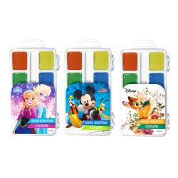 Краски акварельные медовые 12 цветов  Disney  Тетрада ТЕ12124
