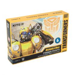 Краски пальчиковые 6 цветов  Transformers  Kite TF20-064