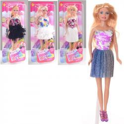 Кукла 29см, платье с пайетками, DEFA, 8434-BF