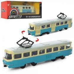 Трамвай 16,5см металлический инерционный AS-1830