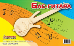 Деревянная сборная модель Бас Гитара