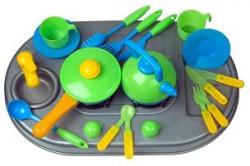 Плита с посудой и мойкой 04-411 KW