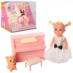 Кукла 11см, фигурка, пианино звук на батарейках, DEFA 8391