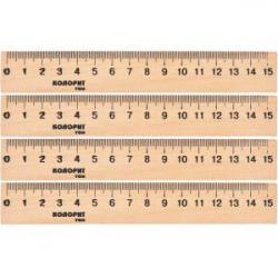 Линейка COLOR-IT деревянная 15см LD-15