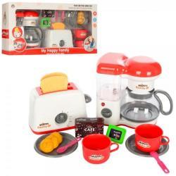 Бытовая техника - кофеварка, тостер механический, продукты (звук, свет, на батарейках), 5227